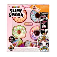 Poopsie Slime Smash Donuts with Crunchy Glitter Slime & 4 Donut Shaped Storage Cases (6 oz of slime) - Multiple Styles