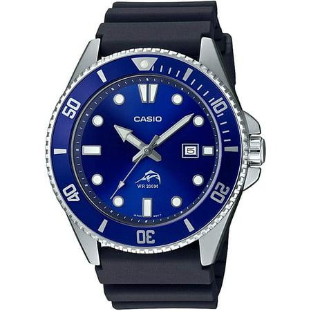 Casio Men's Dive Style Watch, Blue Dial