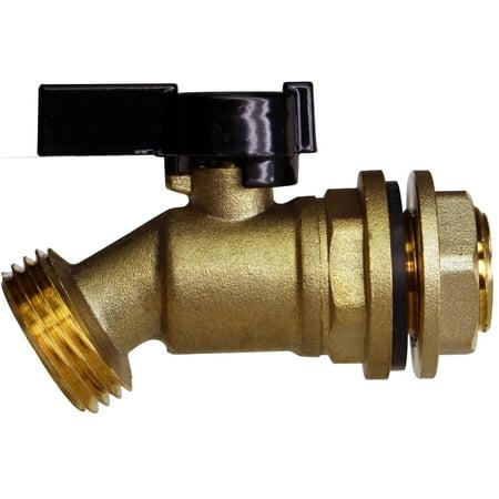 RAINPAL RBS005 Brass Water Container/Rain Barrel Quarter Turn Spigot(Lead Fre... (Quarter Barrels)
