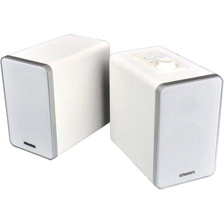 Microlab H21 Bluetooth 2-Way Bookshelf Speaker System, White