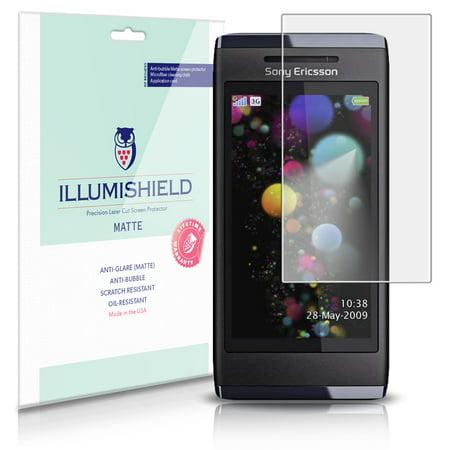 iLLumiShield Matte Screen Protector w Anti-Glare/Print 3x for Sony Ericsson Aino