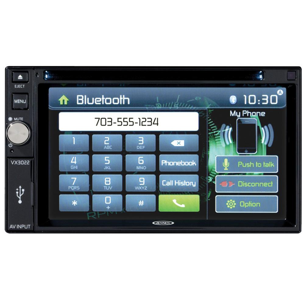 "Jensen Double din Multimedia w/6.2"" TFT/ipod/iphone/Bt USB2.1"