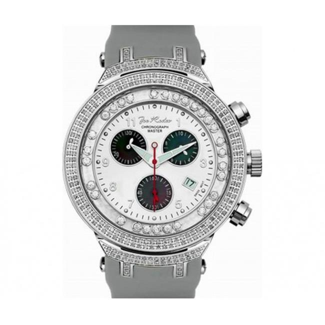 Joe Rodeo JJMS2(W) Master Man Diamond Watch, White Dial with White Band