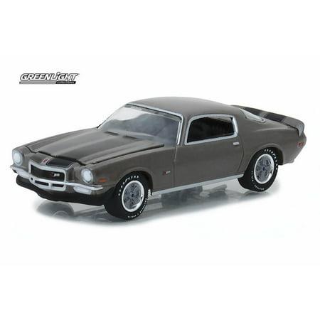 1970 Chevy Camaro Z/28, Gray - Greenlight 37130/48 - 1/64 Scale Diecast Model Toy Car
