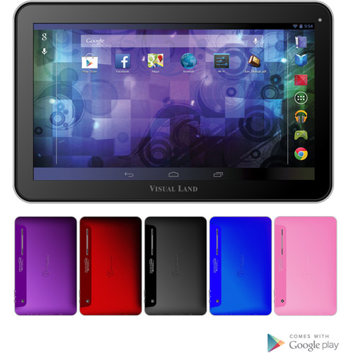 Visual Land Prestige 10D Dual Core 16GB Android 4.2 Tablet with Google Play (Pink)