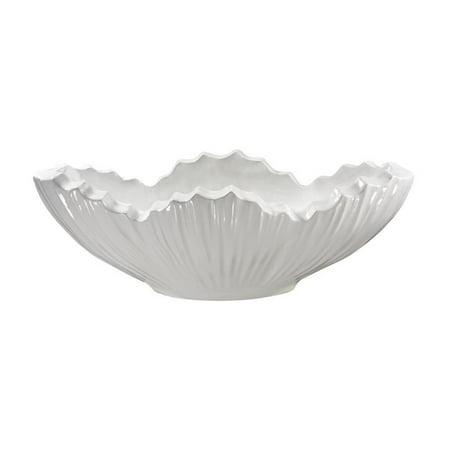 Dimond Home Poppy Planter in Gloss White