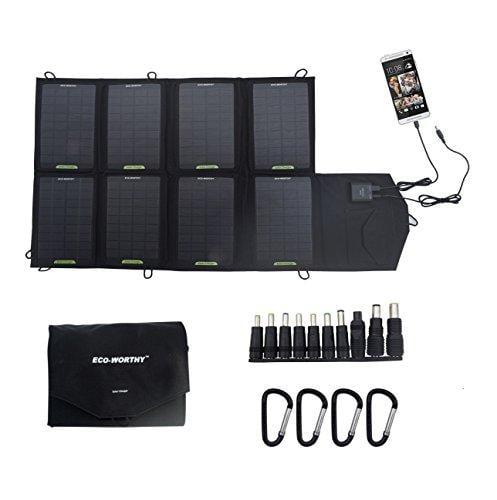 eco-worthy 28w 2-port usb universal powerport portable so...