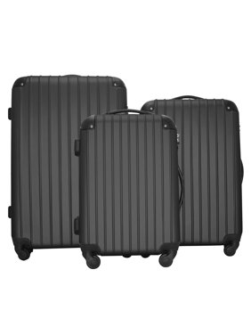 "Zimtown 20""/24""/28"" Trolley Case 3 Piece Travel Luggage Set Black"