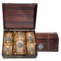 Marines Historic Capitol Decanter Chest Set by Heritage Metalworks