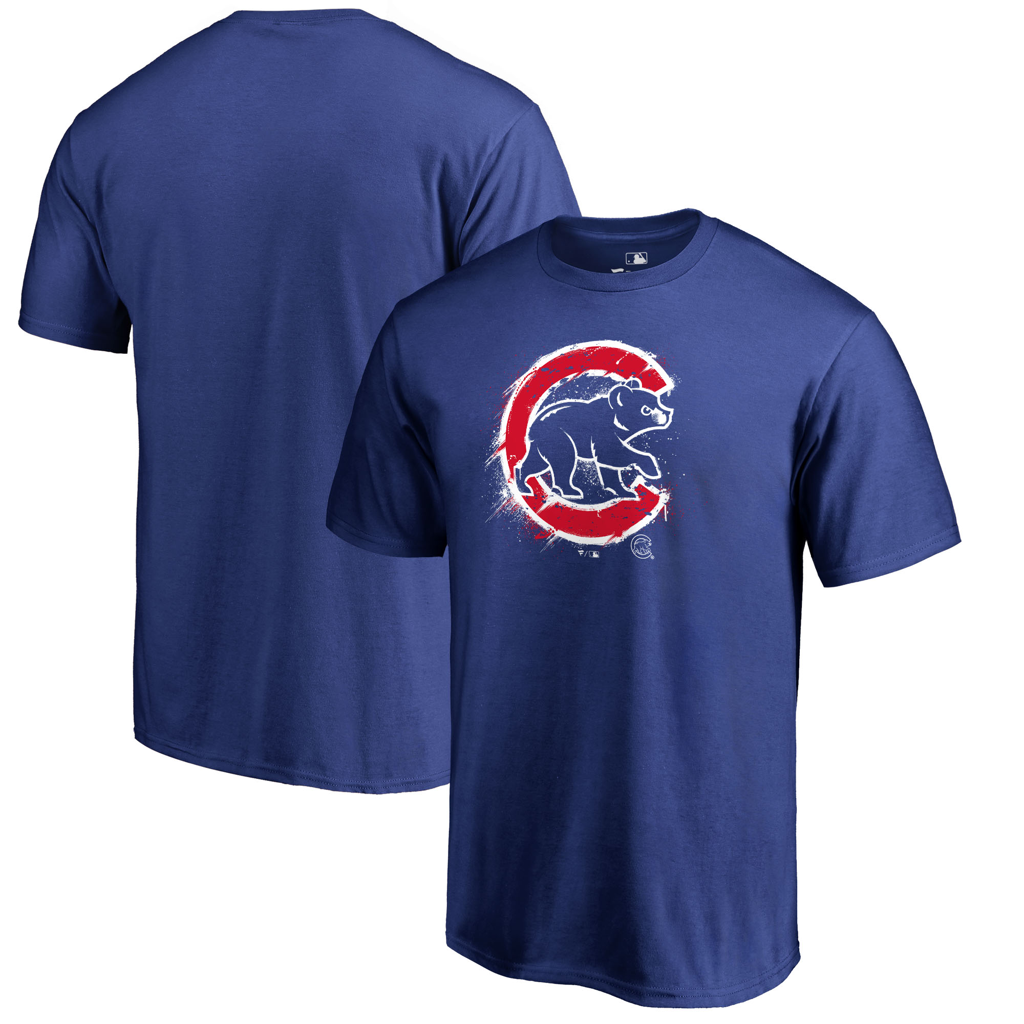 Chicago Cubs Fanatics Branded Splatter Logo T-Shirt - Royal