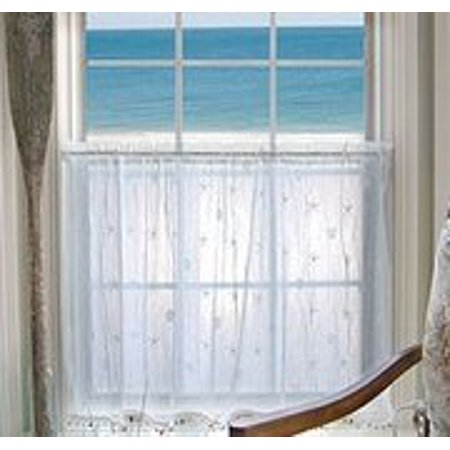 heritage lace 7175w-4530st 45 x 30 in. sand shell tier with shell trim, white