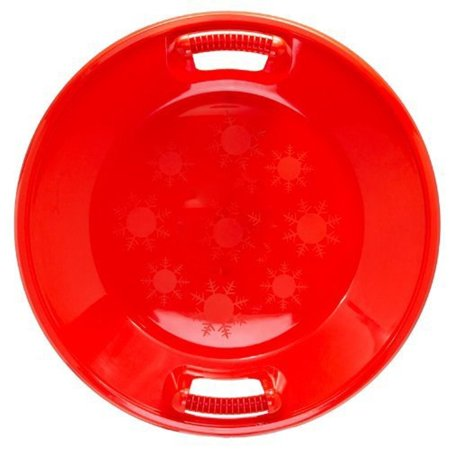 Porpora Flying Saucer Snow Sled for Kids Plastic 25-inch Diameter