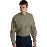 Ed Garments Men's Big And Tall Banded Collar Long Sleeve Shirt, CLAY, X-Large