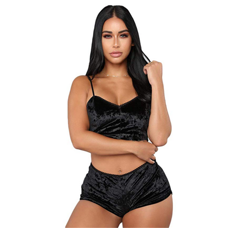 6bc1d5fe745 Women Sexy Lingerie Satin Pajamas Cami Short Nightwear Set Sleepwear  Pajamas Set - Walmart.com