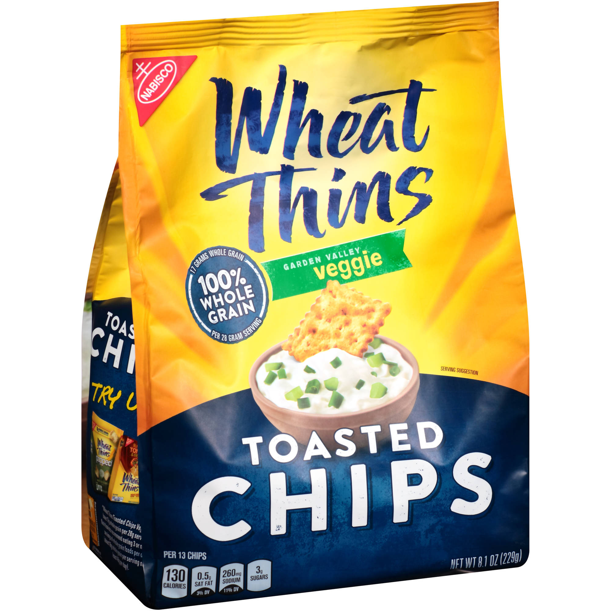 Nabisco Wheat Thins Garden Valley Veggie Toasted Chips, 8.1 oz