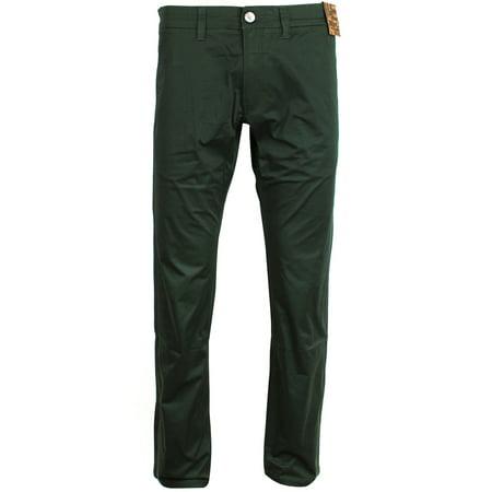 Black Straight Leg Trousers - Jack South London Men's Slim Fit Straight Leg Casual Pants Chino Trousers Black Forest