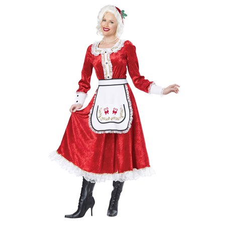 Womens Classic Mrs. Claus Halloween Costume](Ladies Halloween Costumes Scary)