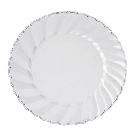 BalsaCircle Disposable Plastic 12 Round Plates for Wedding Reception Party Buffet Catering Tableware (Tableware For Wedding)