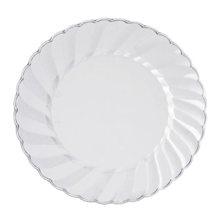 BalsaCircle Disposable Plastic 12 Round Plates for Wedding Reception Party Buffet Catering Tableware