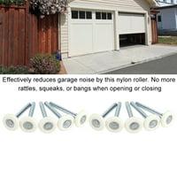Mgaxyff 10PCS Garage Door Gate Nylon Roller Sectional Replacement Bearing Wheel 2'' Stem ,  Nylon Garage Door Roller, Garage Gate Roller