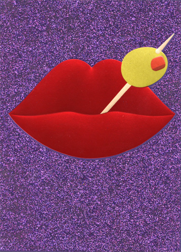 Avanti Press Martini Olive Lips A*Press Birthday Card by Avanti Press