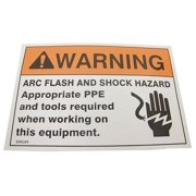 BADGER TAG & LABEL CORP 111 Warning Label, 5 x 3-1/2 in., PK5