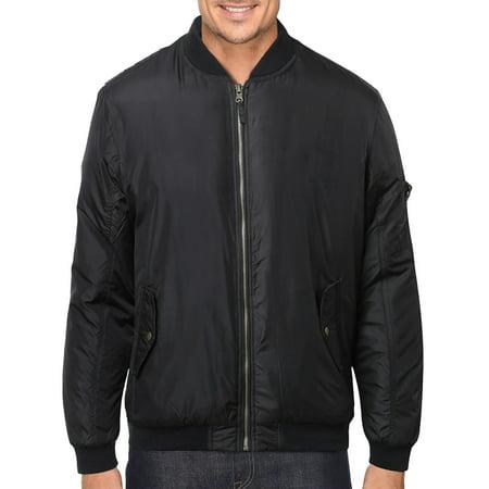 - Men's Premium Multi Pocket Water Resistant Padded Zip Up Flight Bomber Jacket (YAYA - Black,2XL)