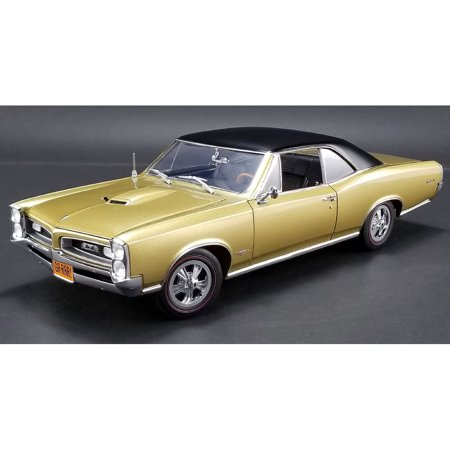 Gtr Diecast Car - 1966 Pontiac GTO Tiger Gold Limited Edition to 460 pieces Worldwide 1/18 Diecast Model Car  by Acme