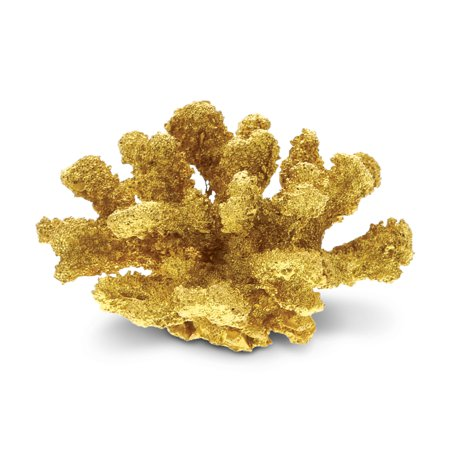 Nautical Decor CoTa Global Resin Gold Coral Home Accent ()