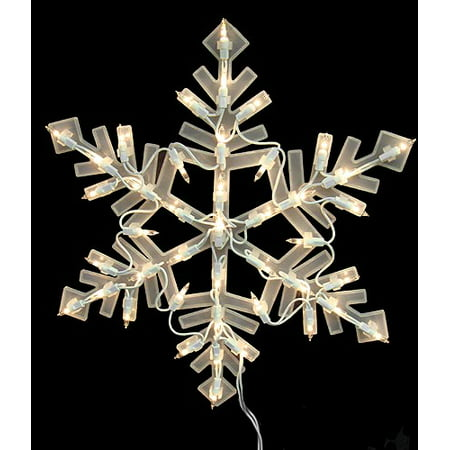 16 lighted snowflake christmas window silhouette For16 Lighted Snowflake Christmas Window Silhouette Decoration