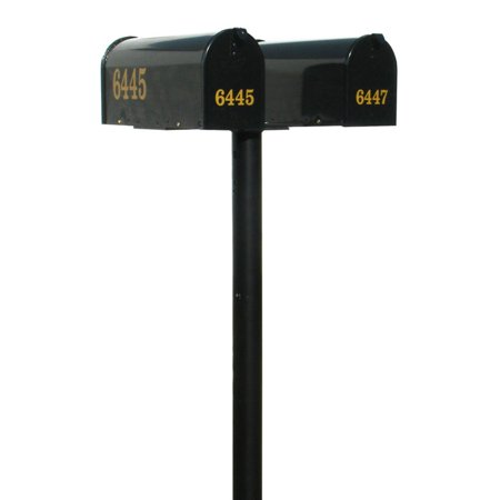 The Hanford Mailbox Post System Twin Post with E1 Economy Rural Mailboxes