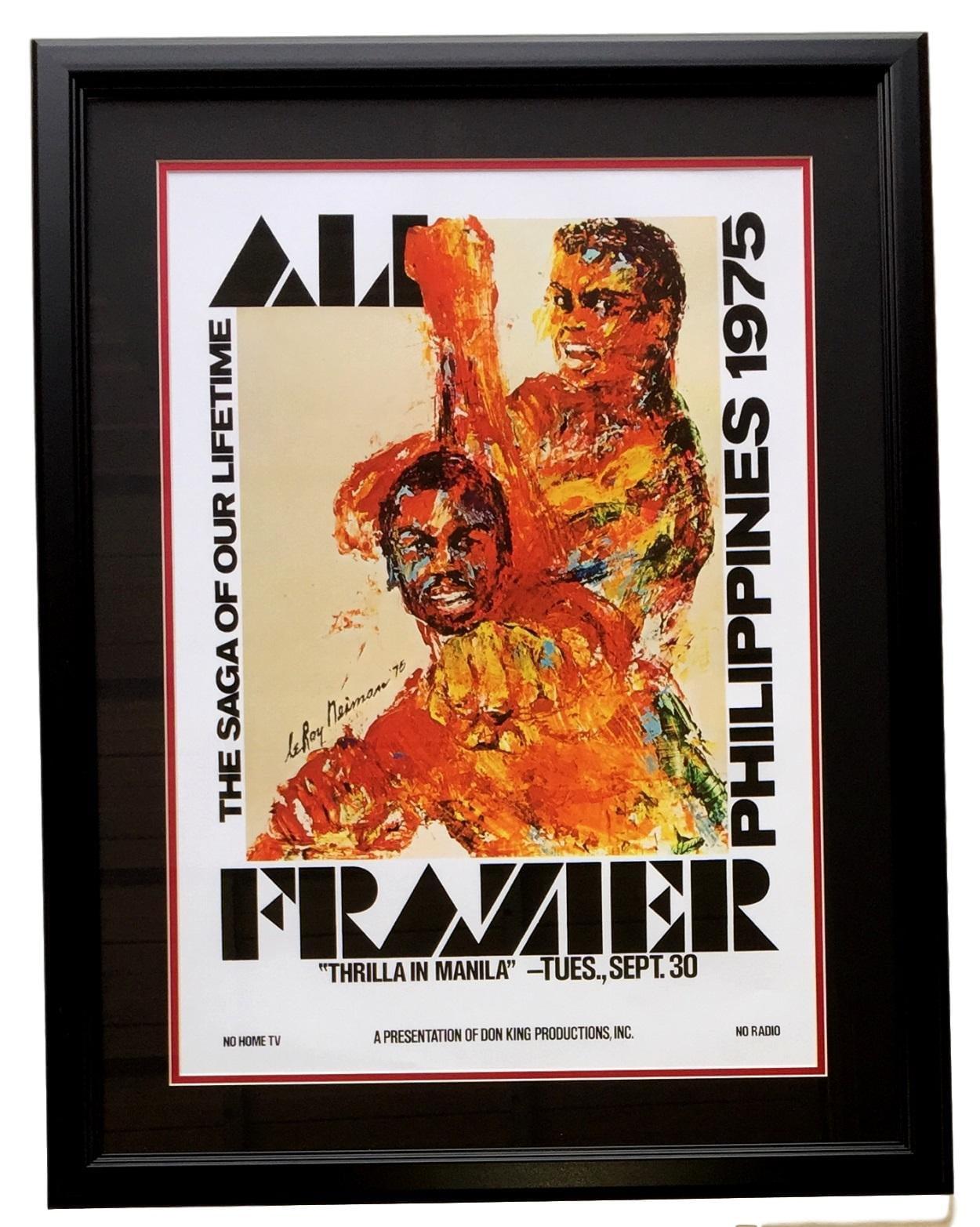 MUHAMMAD ALI JOE FRAZIER CANVAS PRINT PICTURE WALL ART HOME DECOR FREE DELIVERY