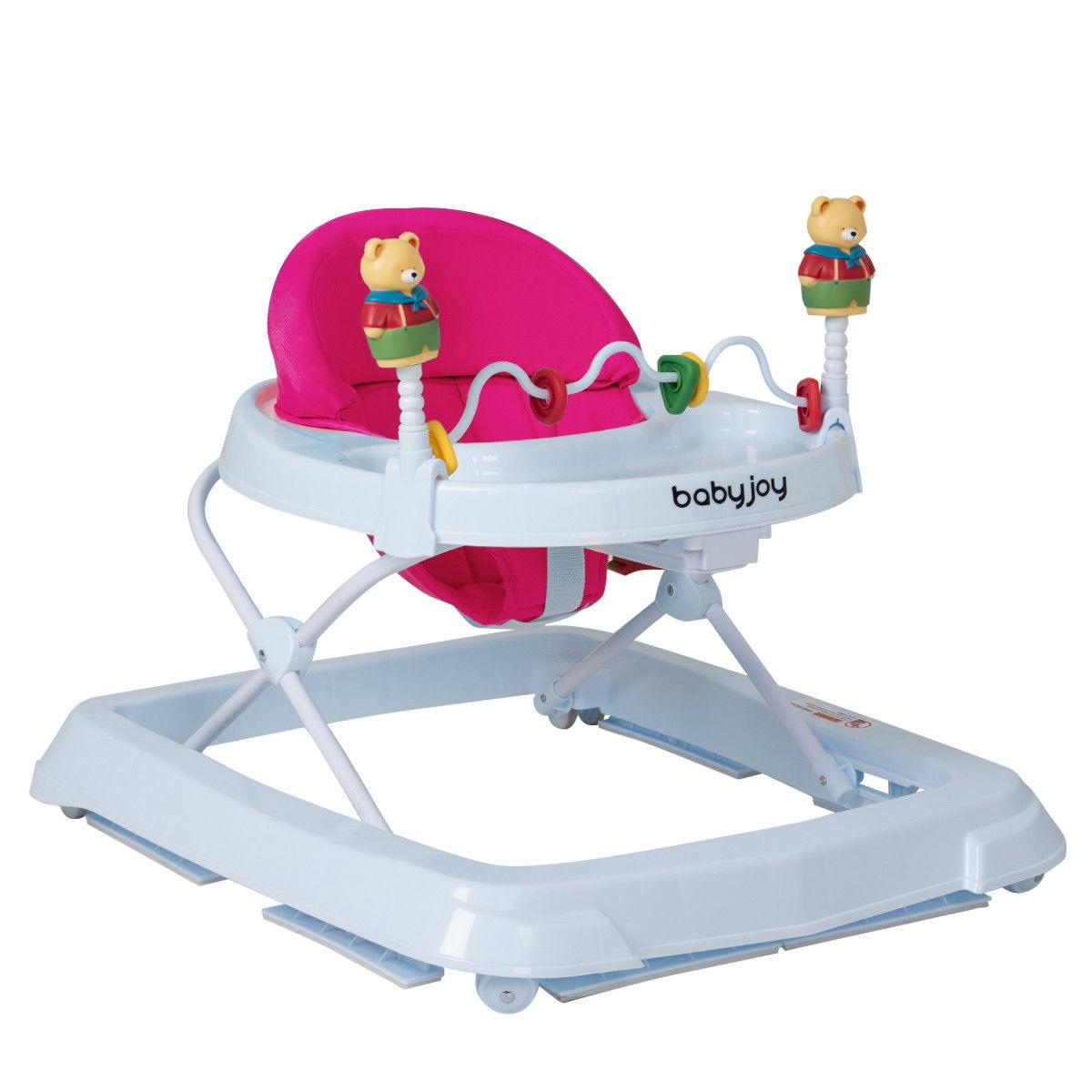 Baby Walker - Pink Adjustable Height 30-Lbs Weight ...