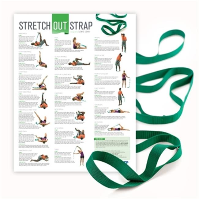 OPTP 440PS Stretch Out Strap With Stretching Exercise Poster