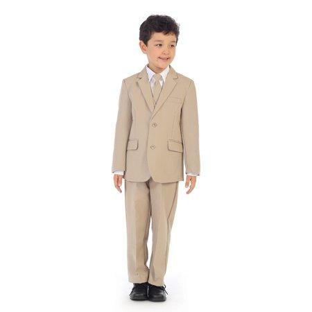 Angels Garment Boys Khaki Jacket Pants Vest Tie Shirt Handsome Suit