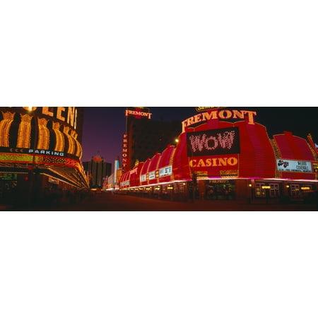 Neon Lights at Las Vegas  Nevada Poster Print (27 x 9)