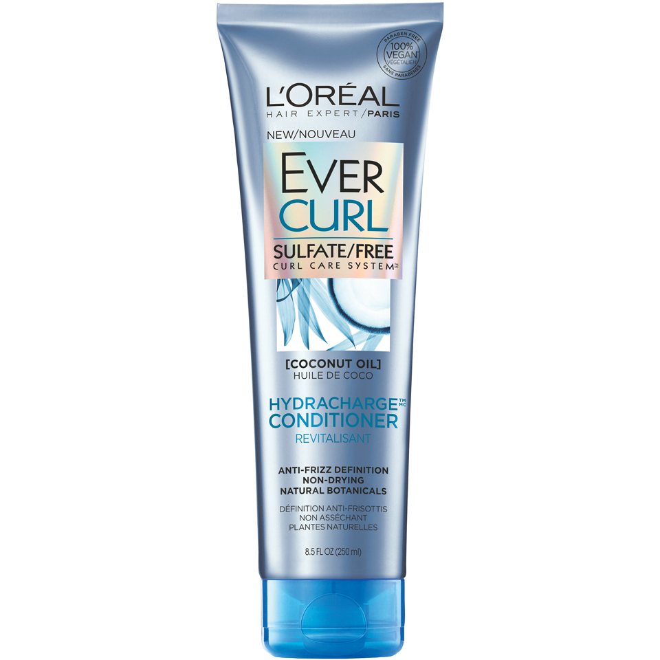 L'Oreal Paris EverCurl Hydracharge Sulfate Free Conditioner, 8.5 Fl Oz