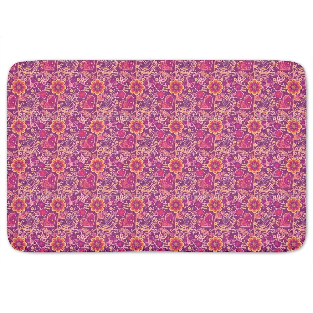 Uneekee Beloved Bird Paradise Bath Mat