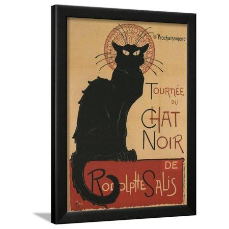 1896 Art - Tournee Du Chat Noir, 1896 Framed Print Wall Art By Théophile Alexandre Steinlen