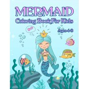 Mermaid Coloring Book : For Kids Ages 4-8: Adorable Cute And Unique Coloring Pages For Girls (Paperback)