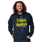 Jesus Hoodies Sweat Shirts Sweatshirts Be Strong Courageous Christian Religious Gift