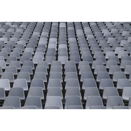 LAMINATED POSTER Rows Of Seats Auditorium Sit Football Stadium Poster Print 24 x (Best Place To Sit In A Football Stadium)