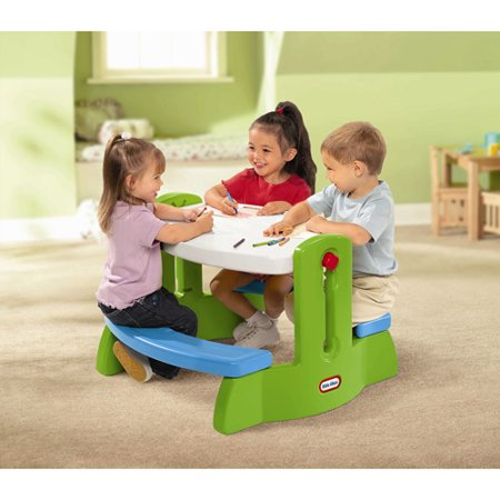 Little Tikes Adjust N Draw Table Green And Blue Walmart Com