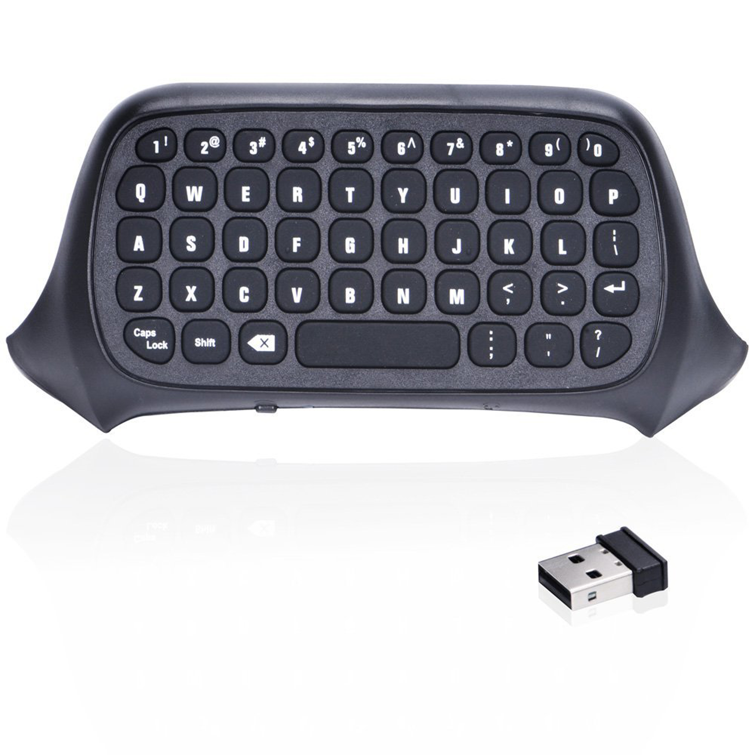 2.4G Mini Wireless Chatpad Message Keyboard for Xbox One Controller-Black