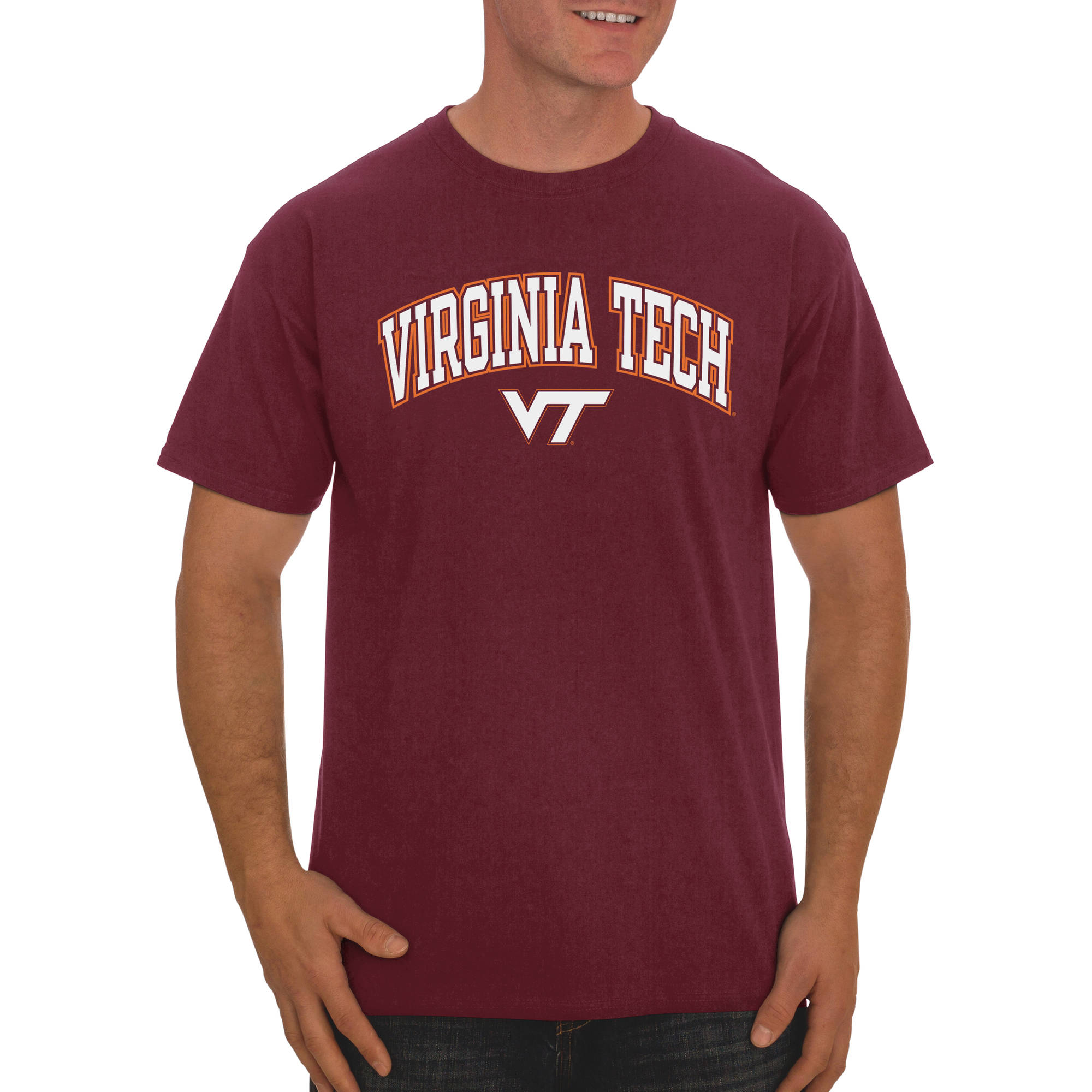 Russell NCAA Virginia Tech Hokies Big Men's Classic Cotton T-Shirt