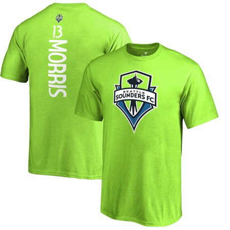 Jordan Morris Seattle Sounders FC Fanatics Branded Youth MLS Backer T-Shirt - Rave Green