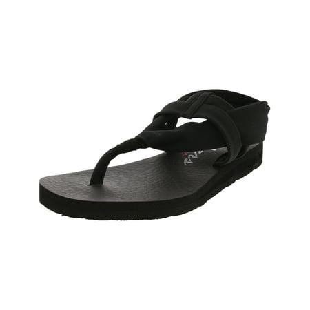 daf8882a3ab5 Skechers - Skechers Women s Meditation - Studio Kicks Black Ankle-High  Cotton Sandal 5M - Walmart.com