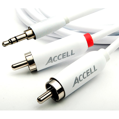 Accell 7' 3.5mm/Stereo Audio and RCA Cable For iPod