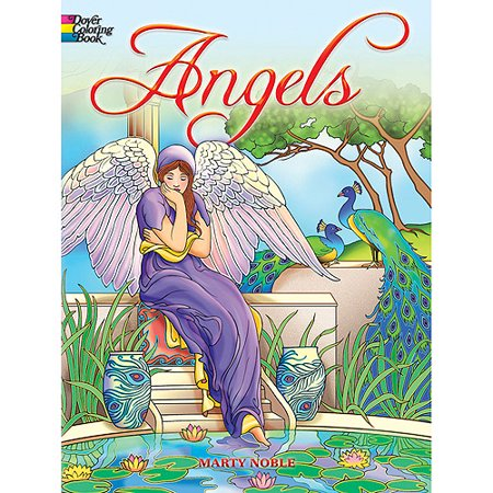 Dover Publications, Angels Coloring Book - Angel Coloring Page