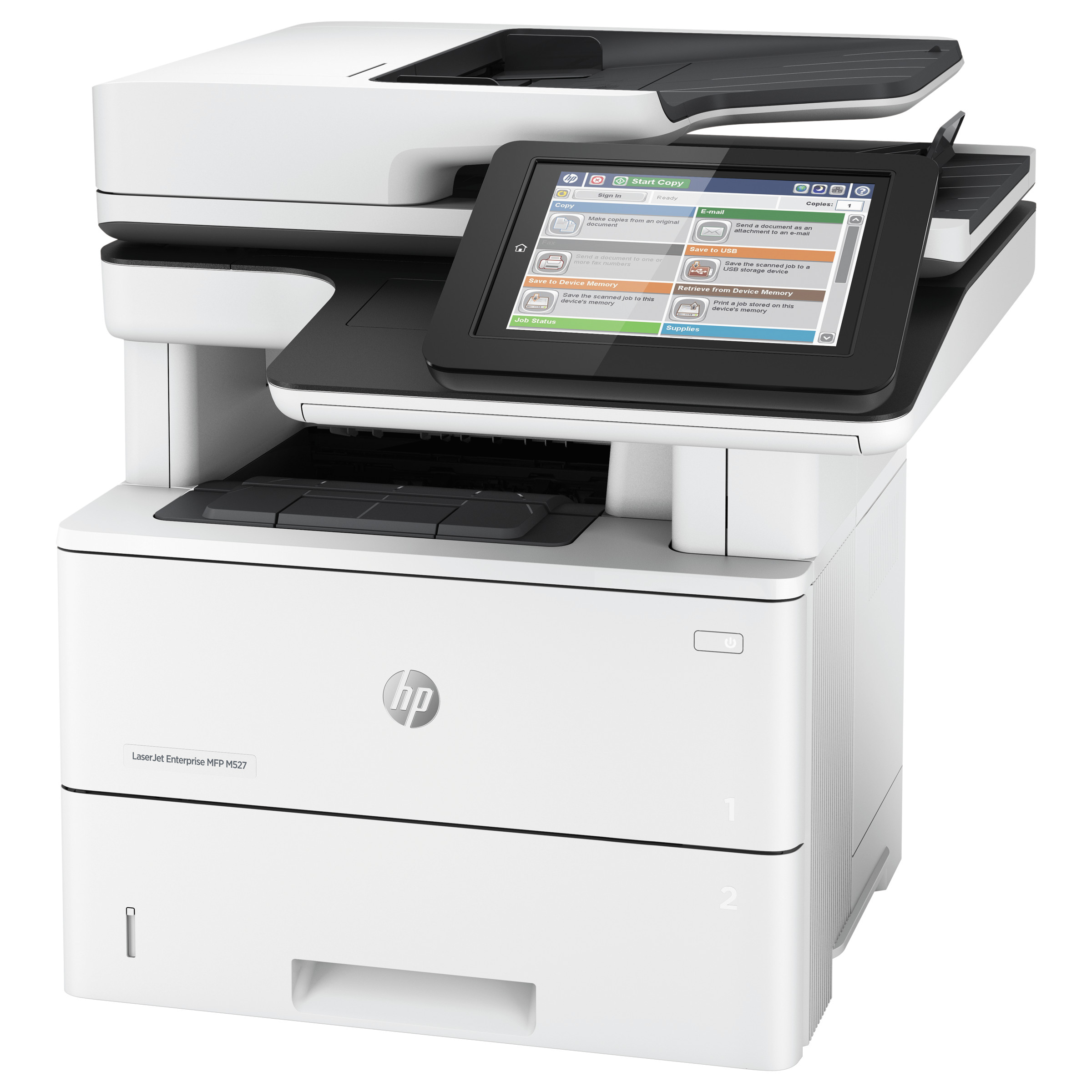 HP LaserJet Enterprise Flow MFP M527c Multifunction Printer, Copy/Fax/Print/Scan -HEWF2A81A